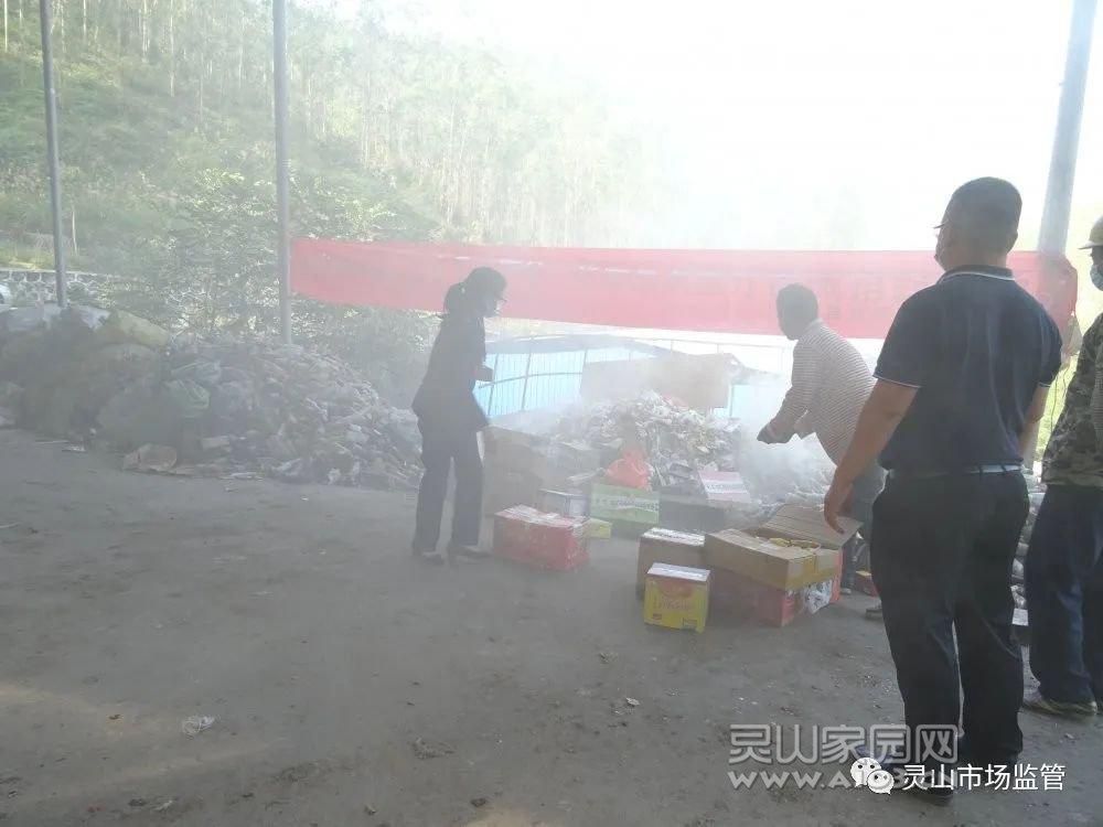 文利镇集中销毁一批不合格食品药品