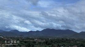 前几天台风飞燕过境的天空