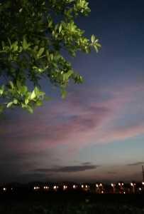 夕陽西下之余暉